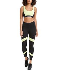 Neon Cross-Back Medium-Impact Sports Bra & Power Mesh Leggings