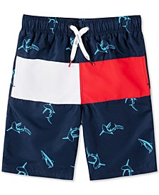 Shark Print Swim Trunk
