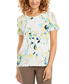 Jacquard Printed T-Shirt, Created for Macy's