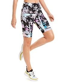 Printed High-Waist Bike Shorts