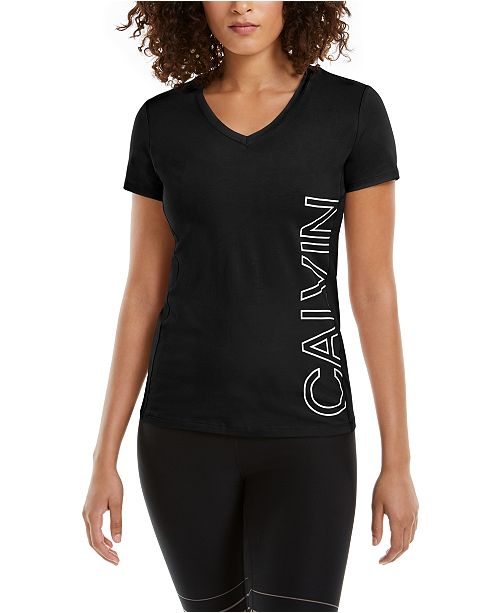 Calvin Klein Outline-Logo V-Neck T-Shirt