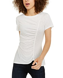 INC EARTH Ruched Top, Created for Macy's