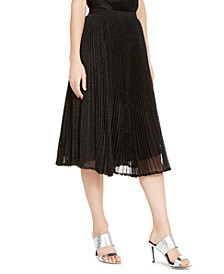 Pleated Shine Skirt