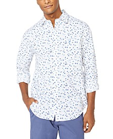 Men's Blue Sail Floral Graphic Shirt, Created for Macy's