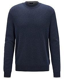BOSS Men's Oleo Open Blue Sweater
