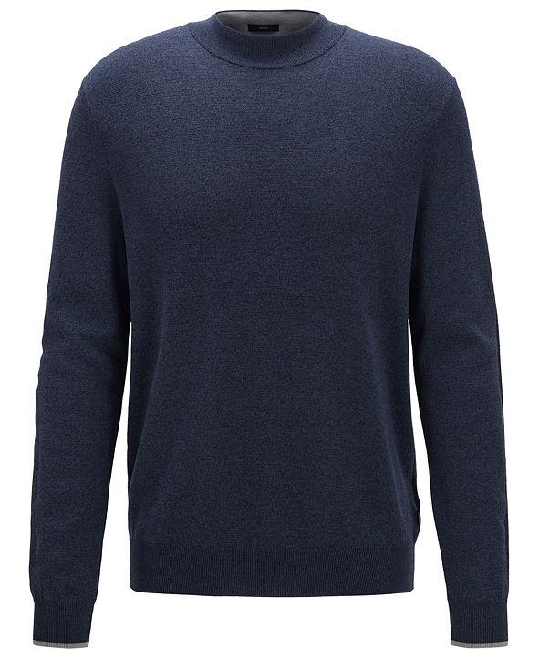Hugo Boss BOSS Men's Oleo Open Blue Sweater