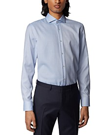 BOSS Men's Jason Medium Blue Shirt