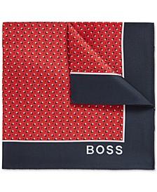 BOSS Men's Medium Red Pocket Square