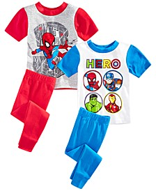 Toddler Boys 4-Pc. Marvel Superheroes Pajama Set