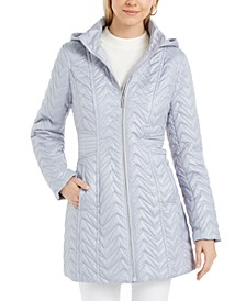 Hooded Water-Resistant Quilted Jacket