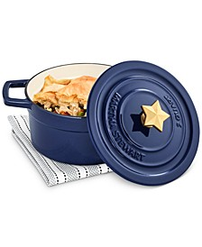 Americana Enameled Cast Iron 2-Qt. Dutch Oven with Star Finial, Created for Macy's