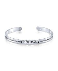 """Gratitude & Grace Fine Silver Plated """"Courage"""" Cuff Bracelet"""