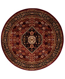 """Asbury ASB21 Red 5'3"""" Round Area Rug"""
