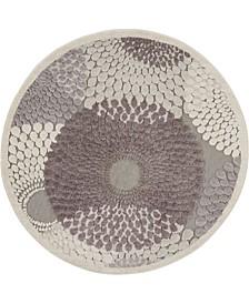 "Chimeras CHI04 Gray 7'9"" Round Area Rug"