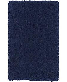 """Cali Shag CAL01 Navy 2'6"""" x 4' Area Rug"""