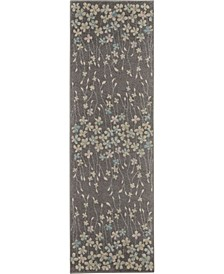 "Peace PEA04 Gray 2'3"" x 7'3"" Runner Rug"