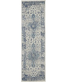"Peace PEA06 Ivory 2'3"" x 7'3"" Runner Rug"