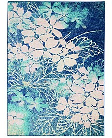 Peace PEA08 Navy, Pink 4' x 6' Area Rug