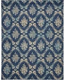 "Peace PEA09 Navy 8'10"" x 11'10"" Area Rug"