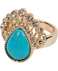18k Gold Plated Drop Ring