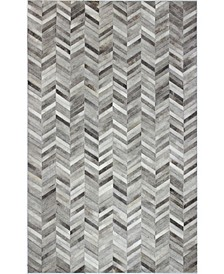 Cowhide H112 Gray 5' x 8' Area Rug