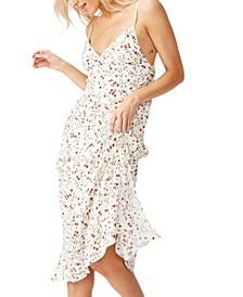 Woven Veronica V Midi Slip Dress