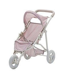 Olivia's Little World - Polka Dots Princess Baby Doll Jogging Stroller