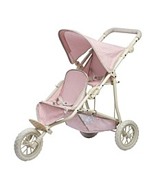 Polka Dots Princess Baby Doll Twin Jogging Stroller