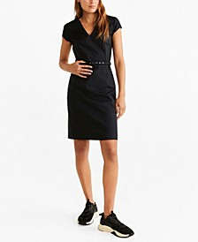 Belted Pencil Dress