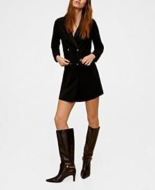 Double Buttoned Blazer Dress