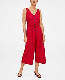 MANGO Buttons Culottes Jumpsuit