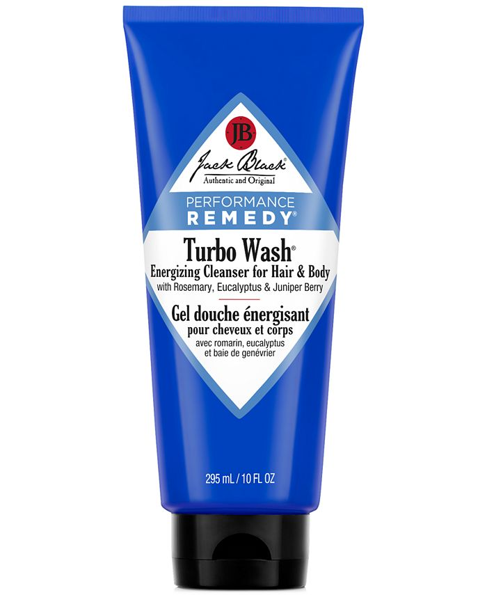 Jack Black - Turbo Wash® Energizing Cleanser for Hair & Body with Rosemary, Eucalyptus & Juniper Berry, 10 oz