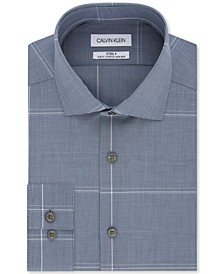 Calvin Klein Men's Slim-Fit Multi-Check Dress Shirt