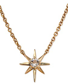 "Gold-Tone Crystal Star Pendant Necklace, 16"" + 1"" extender"