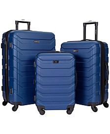 3-Pc. Madison Heights Spinner Expandable Luggage Set