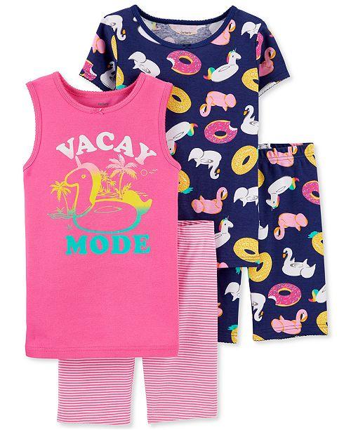 Carter's Little & Big Girls Vacation-Print Cotton Pajamas Set
