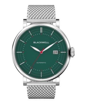 Green Dial with Silver Tone Steel and Silver Tone Steel Mesh Watch 44 mm