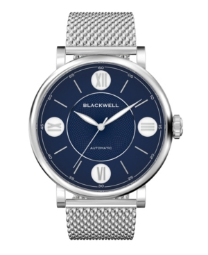 Blue Dial with Silver Tone Steel and Silver Tone Steel Mesh Watch 44 mm