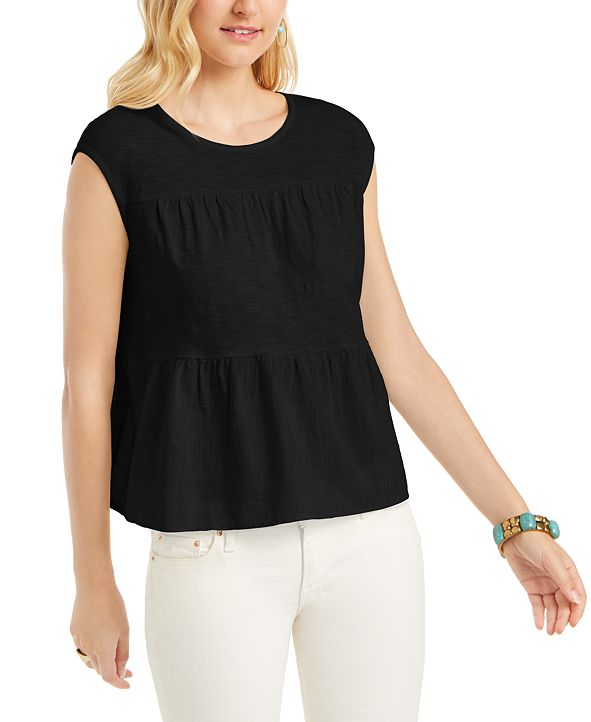 Style & Co Cotton Tiered Tank Top, Created for Macy's