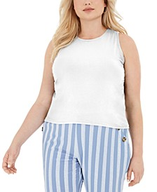 Trendy Plus Size Cropped Tank Top