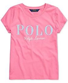 Big Girls Stripe Logo Cotton Jersey T-Shirt