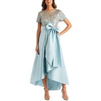 Deals on Sequins & Satin High-Low Gown