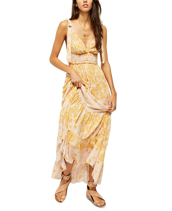 Free People Let's Smock About It Maxi Dress