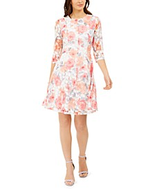 Petite Lace Floral Dress