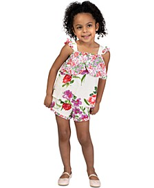 2-Pc. Little Girls Ruffled Top & Shorts Set