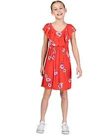 Big Girls Floral Flounce Dress