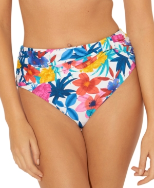 Bleu by Rod Beattie Draped High-Waist Bikini Bottoms Women's Swimsuit