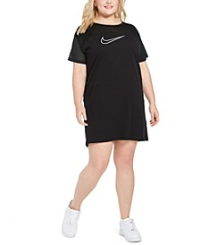 Plus Size Mesh-Contrast Sportswear Dress