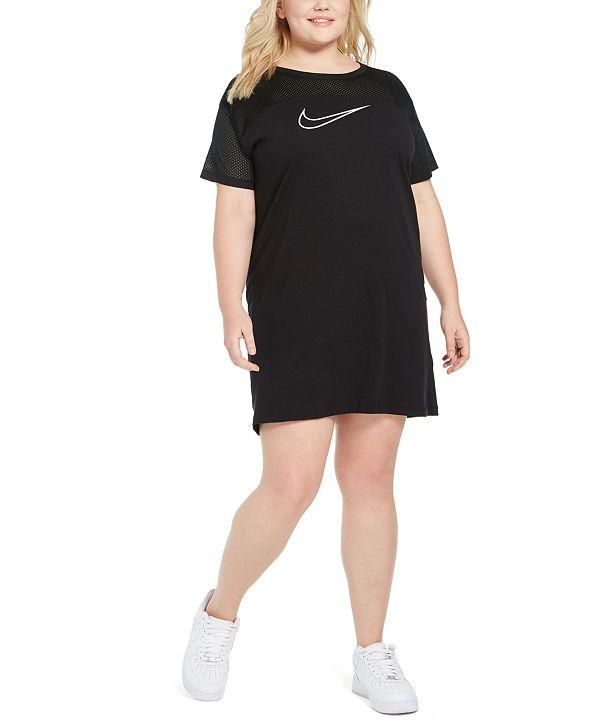 Nike Plus Size Mesh-Contrast Sportswear Dress
