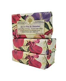 Sweet Pea and Jasmine Soap with Pack of 3, Each 7 oz